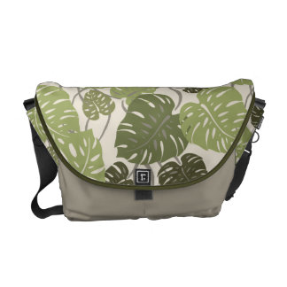 Cliff Hanger Hawaiian Monstera Med. Messenger Bag