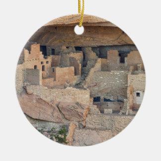 Cliff Homes Round Ceramic Decoration