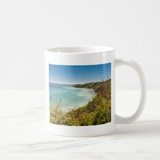 Cliff on the Baltic Sea coast Basic White Mug