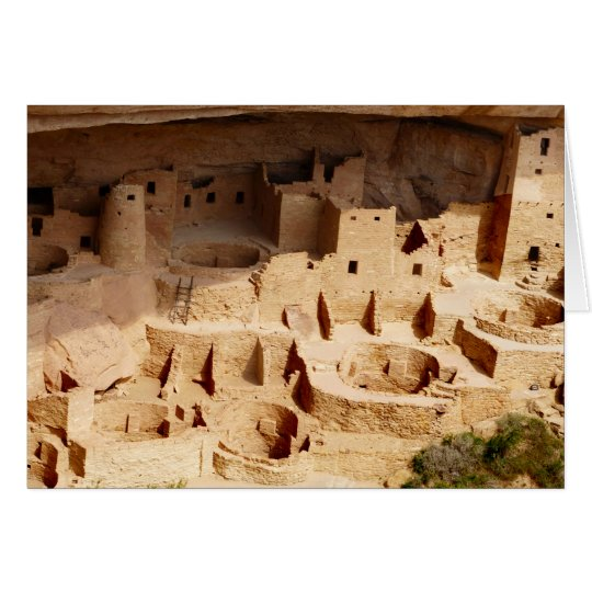Cliff Palace Overview Blank Greeting Card