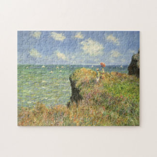 Cliff Walk at Pourville by Claude Monet Jigsaw Puzzle