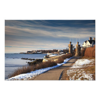 Cliff Walk in Winter, Newport, Rhode Island Art Photo