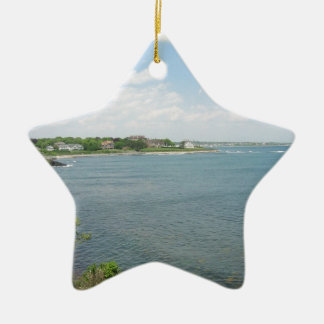 Cliff Walk Newport Rhode Island Christmas Ornament