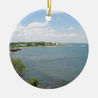 Cliff Walk Newport Rhode Island Christmas Ornament