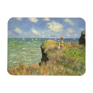 Cliff Walk Pourville, Monet, Vintage Impressionism Vinyl Magnet