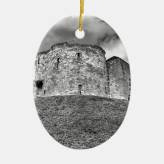 Clifford's Tower in York  historical building Ceramic Oval Decoration