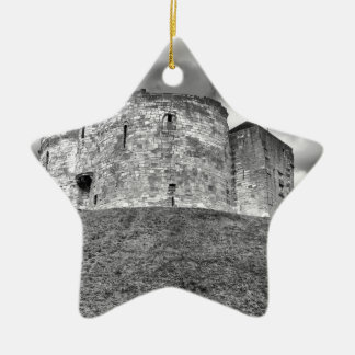 Clifford's Tower in York  historical building Ceramic Star Decoration