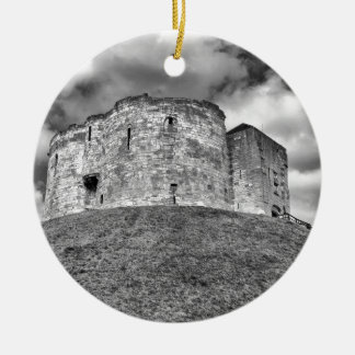 Clifford's Tower in York  historical building Round Ceramic Decoration