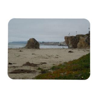 Cliffs Along Pismo Beach Shoreline Rectangular Magnet