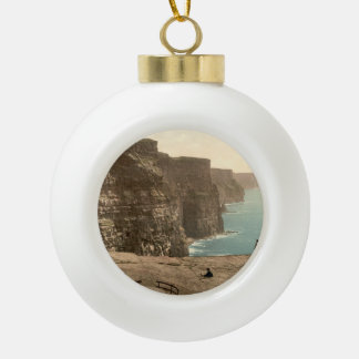 Cliffs at Moher, County Clare, Ireland Ceramic Ball Christmas Ornament