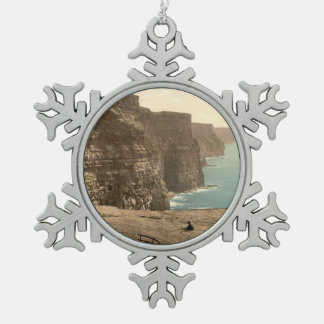 Cliffs at Moher, County Clare, Ireland Snowflake Pewter Christmas Ornament