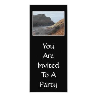 Cliffs at Watermouth, Devon, UK. On Black. 10 Cm X 24 Cm Invitation Card