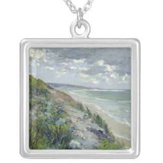 Cliffs by the sea at Trouville Silver Plated Necklace
