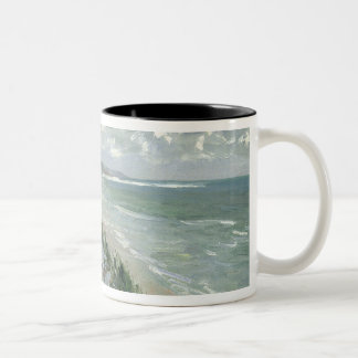 Cliffs by the sea at Trouville Two-Tone Coffee Mug