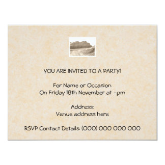 Cliffs in sepia color. On beige background. 11 Cm X 14 Cm Invitation Card