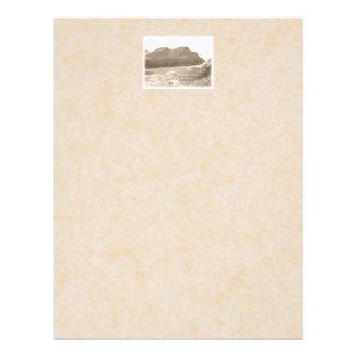 Cliffs in sepia color. On beige background. 21.5 Cm X 28 Cm Flyer
