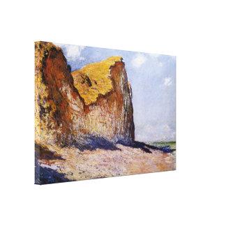 Cliffs Near Pourville Stretched Canvas Print