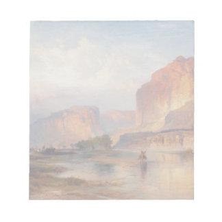 Cliffs of Green River - Thomas Moran (1874) Notepad