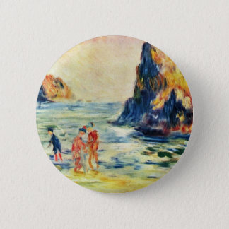 Cliffs Of Guernsey By Pierre-Auguste Renoir 6 Cm Round Badge