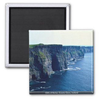 Cliffs of Moher, County Clare, Ireland Square Magnet