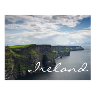 Cliffs of Moher in Ireland text postcard