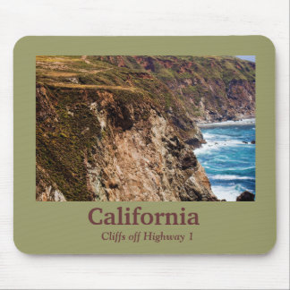 Cliffs off Highway 1 California Mousepad