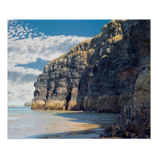 cliffs on the wild atlantic way at low tide poster
