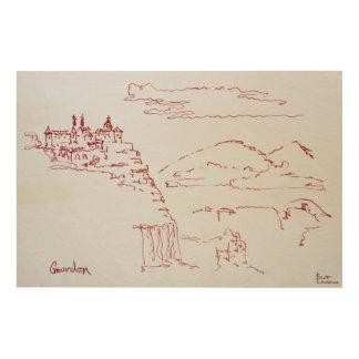 Cliffside Village of Gourdon | Provence, France Wood Print