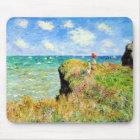 Clifftop Walk at Pourville by Claude Monet Mouse Mat