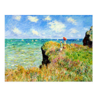 Clifftop Walk at Pourville by Claude Monet Postcard