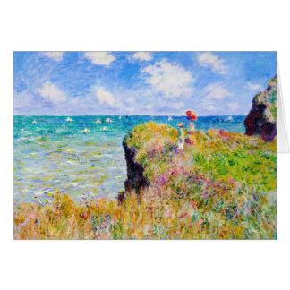 Clifftop Walk at Pourville Claude Monet Card