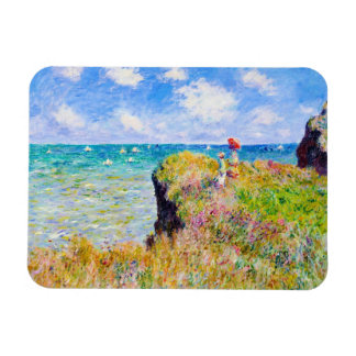 Clifftop Walk at Pourville Claude Monet Magnet