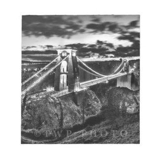 Clifton Bridge BW Notepad