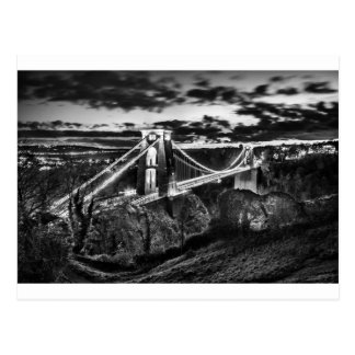 Clifton Bridge BW Postcard