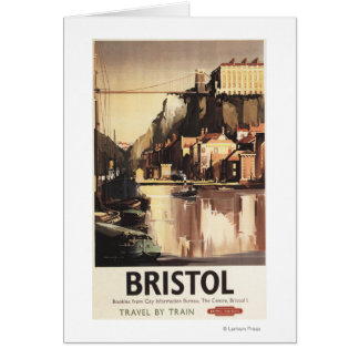 Clifton Suspension Bridge and Boats Card
