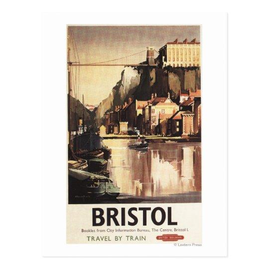 Clifton Suspension Bridge and Boats Postcard