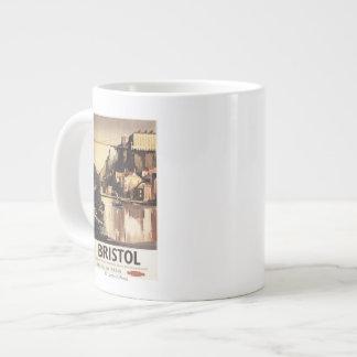 Clifton Suspension Bridge and Boats Extra Large Mug