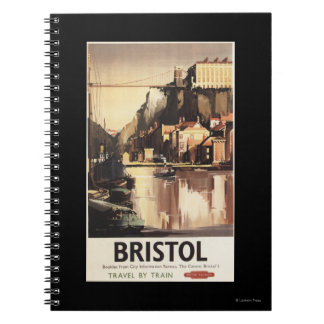 Clifton Suspension Bridge and Boats Spiral Notebook