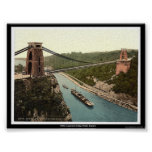 Clifton suspension bridge, Bristol, England Poster