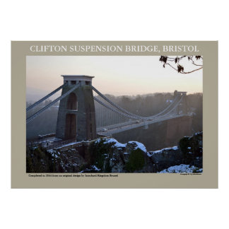 Clifton Suspension Bridge, Bristol Poster