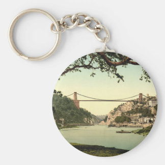 Clifton Suspension Bridge I, Bristol, England Basic Round Button Key Ring