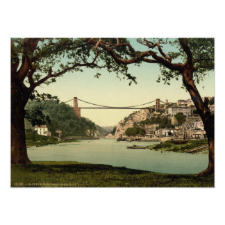Clifton Suspension Bridge I, Bristol, England Poster