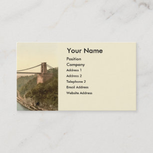 Bristol business cards business card printing zazzle uk clifton suspension bridge ii bristol england business card reheart Images