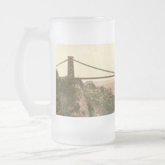Clifton Suspension Bridge II, Bristol, England Frosted Glass Beer Mug