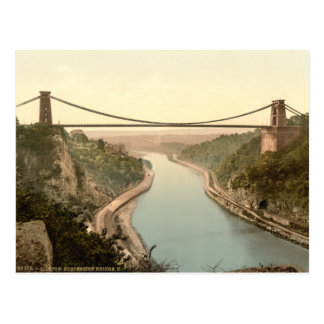 Clifton Suspension Bridge II, Bristol, England Postcard