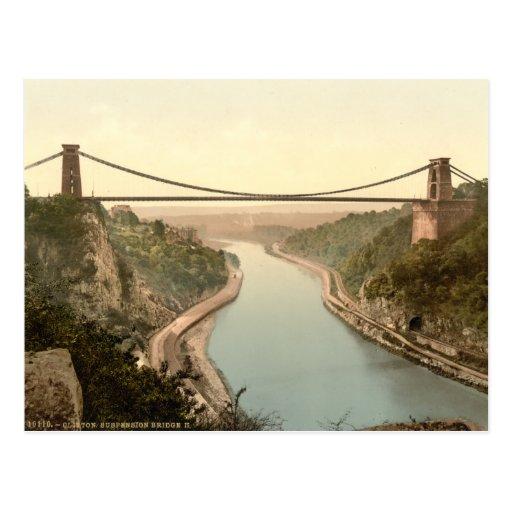 Clifton Suspension Bridge II, Bristol, England Postcard
