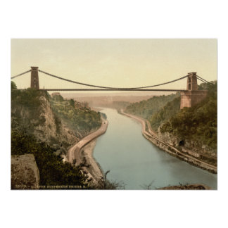 Clifton Suspension Bridge II, Bristol, England Poster