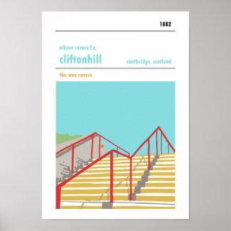 Cliftonhill, Coatbridge. Haynes Manual Style Print