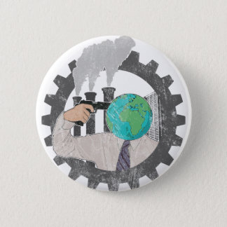 Climate CHANGE 6 Cm Round Badge