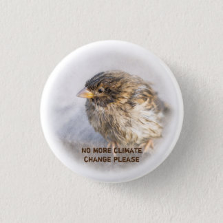 Climate change awareness 3 cm round badge